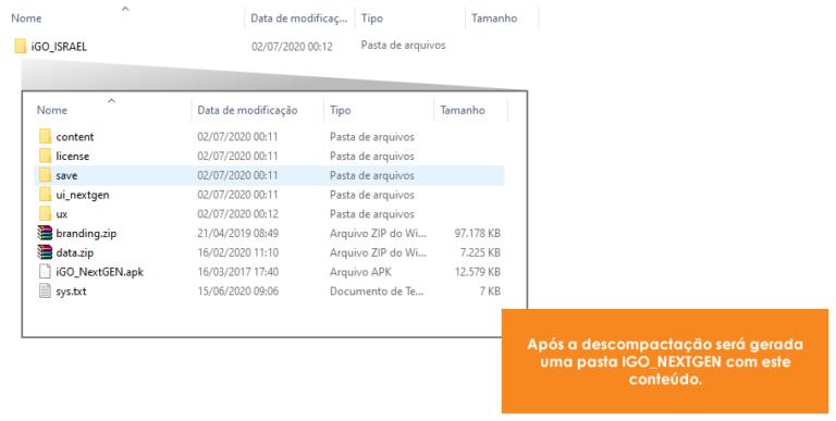 descompactar 4 v2 768x387 - Manual de Instalação - iGO NextGEN